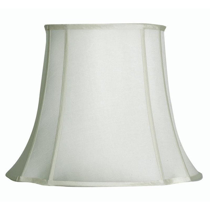 Lamp Shade - Oval Square Ivory Faux Silk Hard Lining S711/21 IV