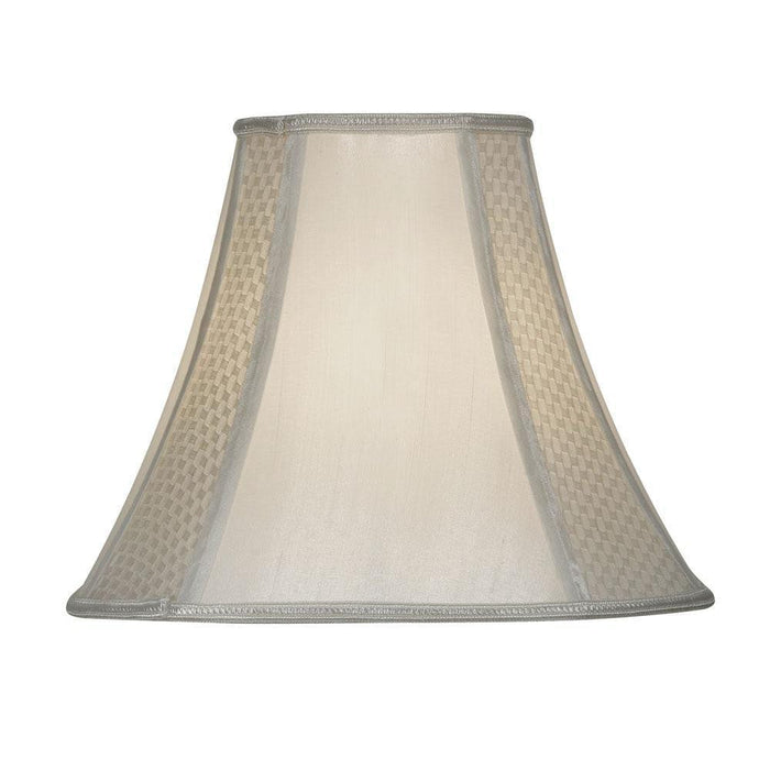 Lamp Shade - Octaganol Ivory Faux Silk Lined S852/20 IV