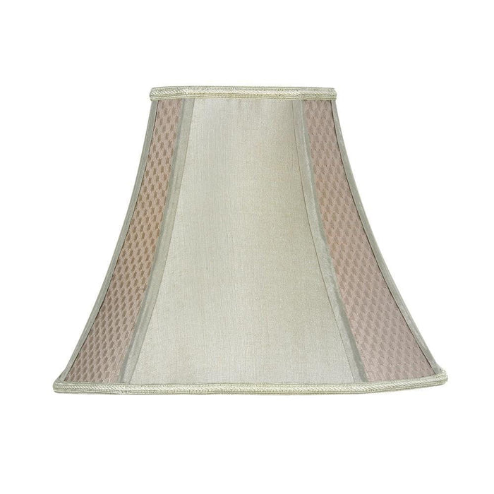 Lamp Shade - Octaganol Soft Grey Faux Silk Lined S852/16 SG