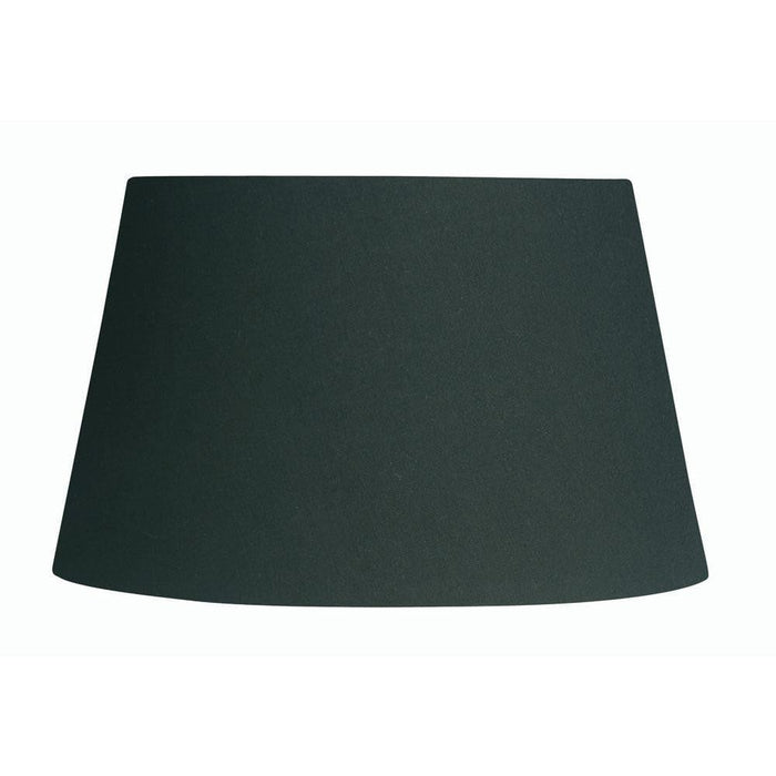 Lamp Shade - Cotton Coolies Black Rolled Edge Hard Lining S501/20 BK
