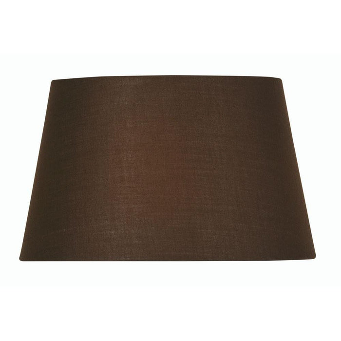 Lamp Shade - Cotton Drum Chocolate Rolled Edge Hard Lining S901/16 CO