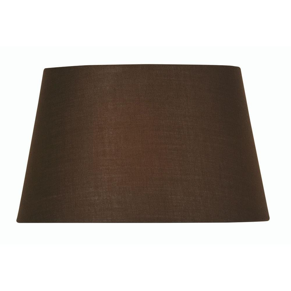 Lamp shade cotton drum chocolate rolled edge hard lining s9016 co aloadofball Gallery