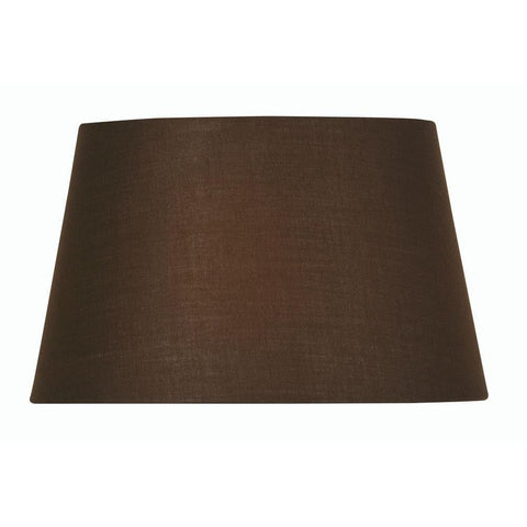 44966a008f8 Lamp Shade - Cotton Coolies Chocolate Rolled Edge Hard Lining S501 5 CO