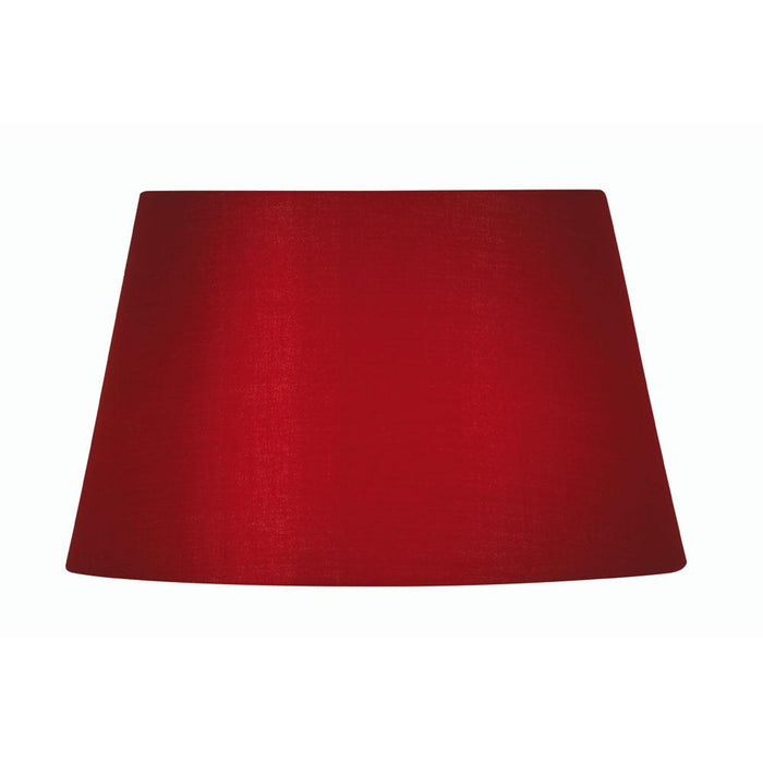 Lamp Shade - Cotton Drum Red Rolled Edge Hard Lining S901/14 RED