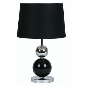 CORBY BLACK & CHROME table lamp