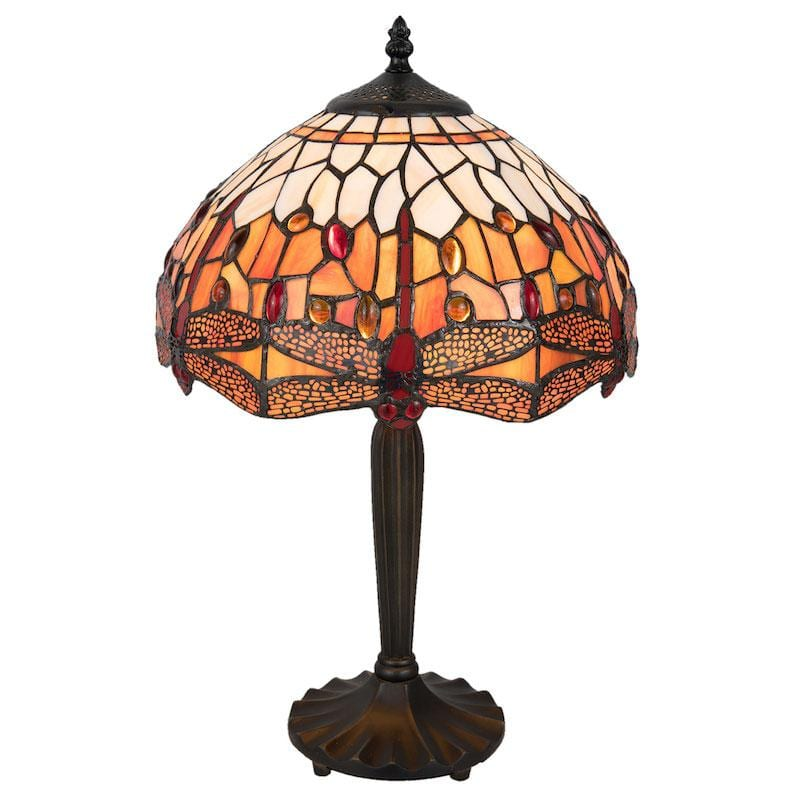 Orange Dragonfly Medium Tiffany Lamp