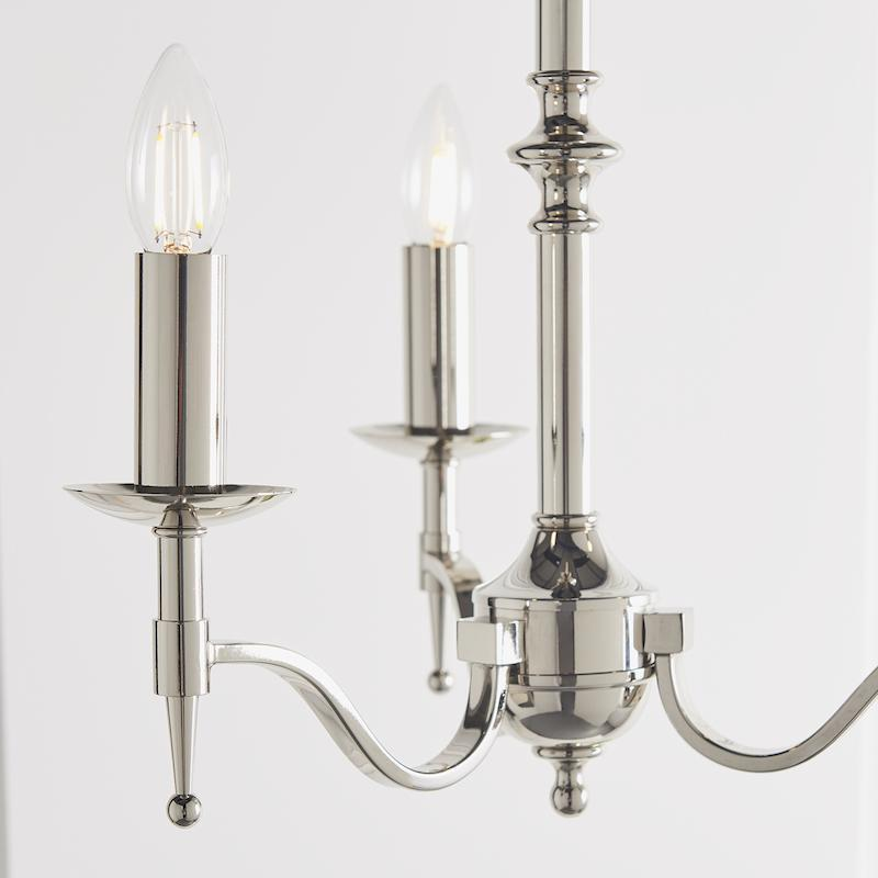 Stanford 3 Light Polished Nickel Finish Chandelier CA1P3N