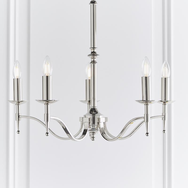 Stanford 5 Light Polished Nickel Finish Chandelier CA1P5N