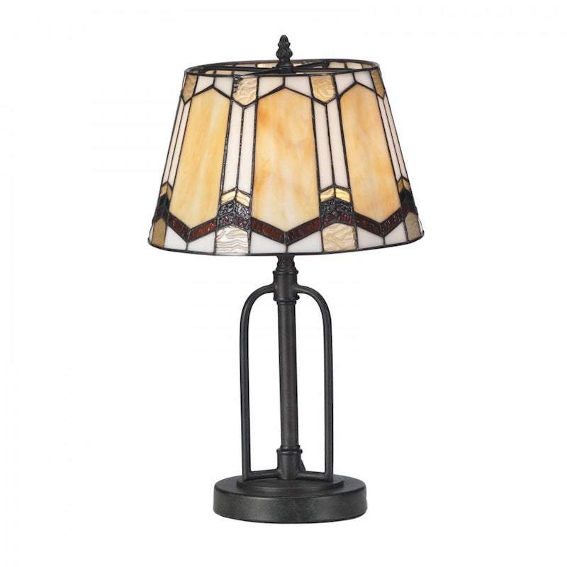 Curan Medium Tiffany Table Lamp by Oaks Lighting