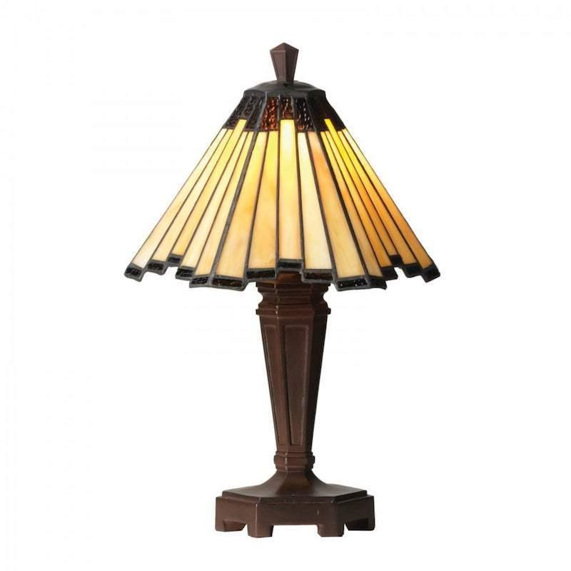 Feste Small Tiffany Table Lamp by Oaks Lighting