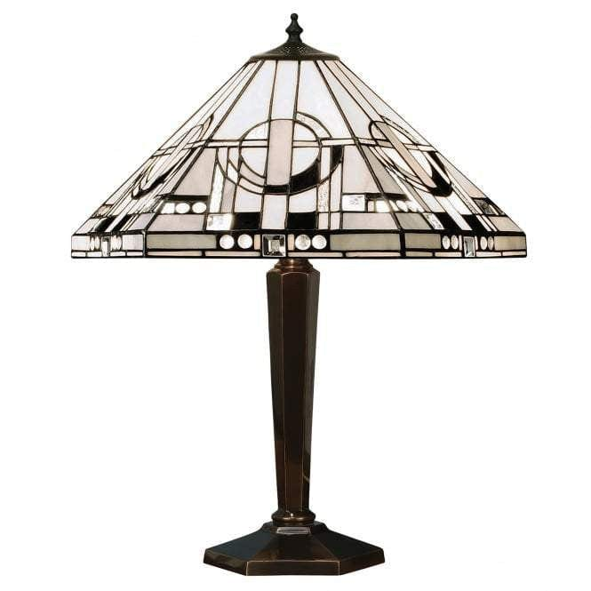 Metropolitan Tiffany Lamp With Cast Brass Base 64263