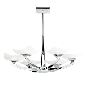 Art Deco Ceiling Light - Ayres 6 Arm Chrome Finish Semi Flush Ceiling Light AYRES-6CH AYRES-6CH