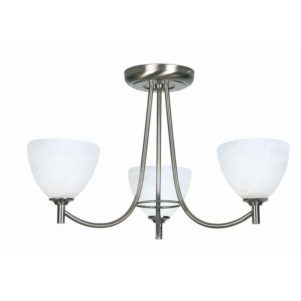 Art Deco Ceiling Light - Hamburg 3 Arm Antique Chrome Finish Art Deco Ceiling Light 1178/3 AC