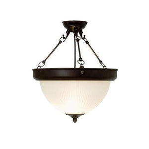 Art Deco Ceiling Light - Kansa Art Deco Prismatic Dome Ceiling Light DOME6356