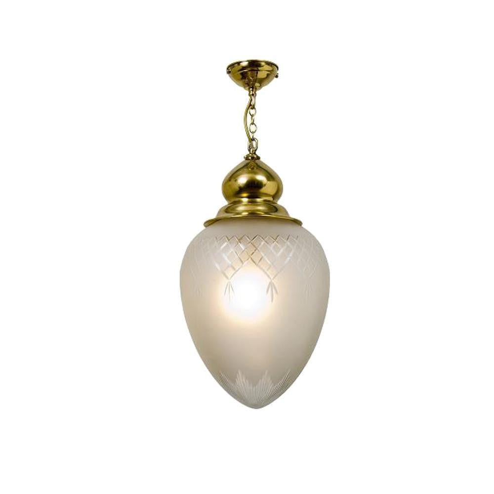 Art Deco Ceiling Light - Kansa Pinestar Acorn Large Ceiling Light PINE429