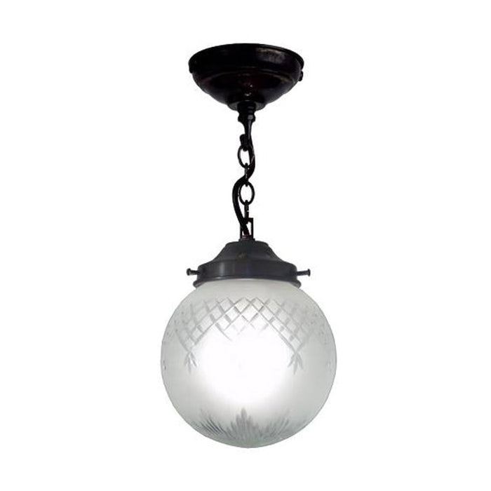 Kansa Pinestar Globe Medium Art Deco Ceiling Light PINE383