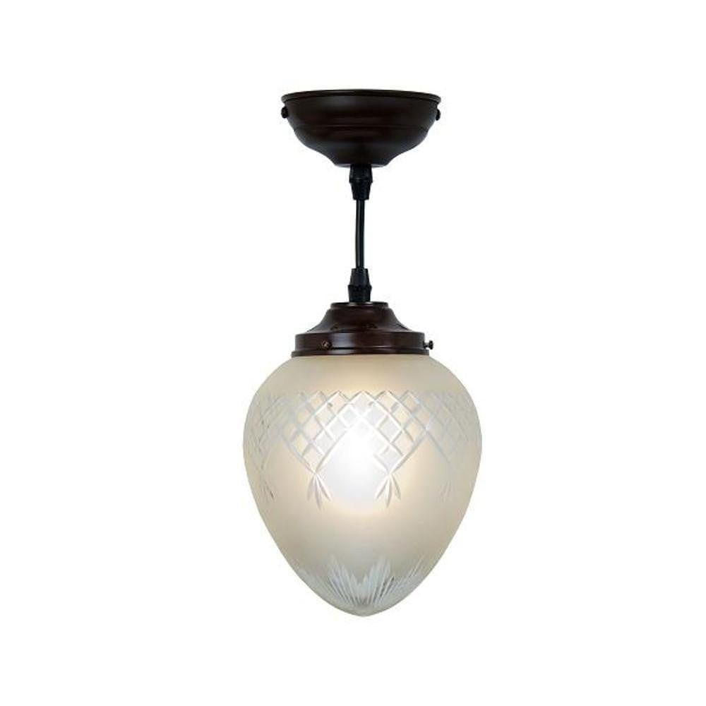 Art Deco Ceiling Light - Kansa Pinestar Medium Acorn Art Deco Ceiling Light PINE427
