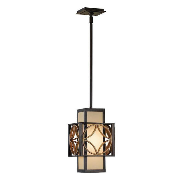 Art Deco Ceiling Lights - Feiss Remy Heritage Bronze And Parisienne Gold Finish Small Pendant Ceiling Light FE/REMY/P/C