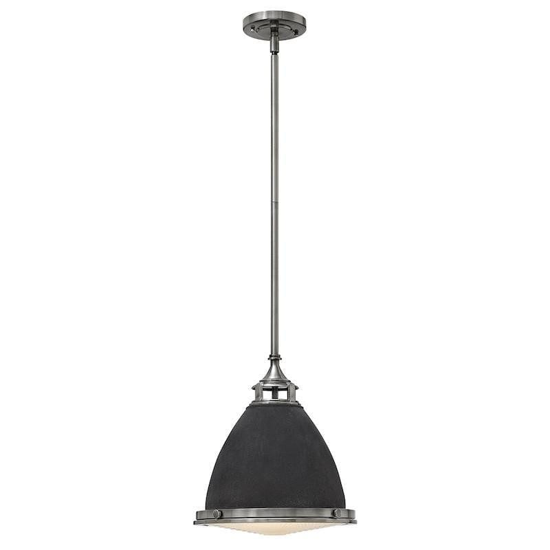 Art Deco Ceiling Lights - Hinkley Amelia Aged Zinc Finish Pendant Ceiling Light HK/AMELIA/P/M DZ