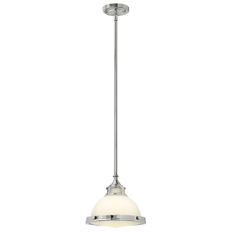 Art Deco Ceiling Lights - Hinkley Amelia Chrome Finish Small Pendant Ceiling Light HK/AMELIA/P/S CM