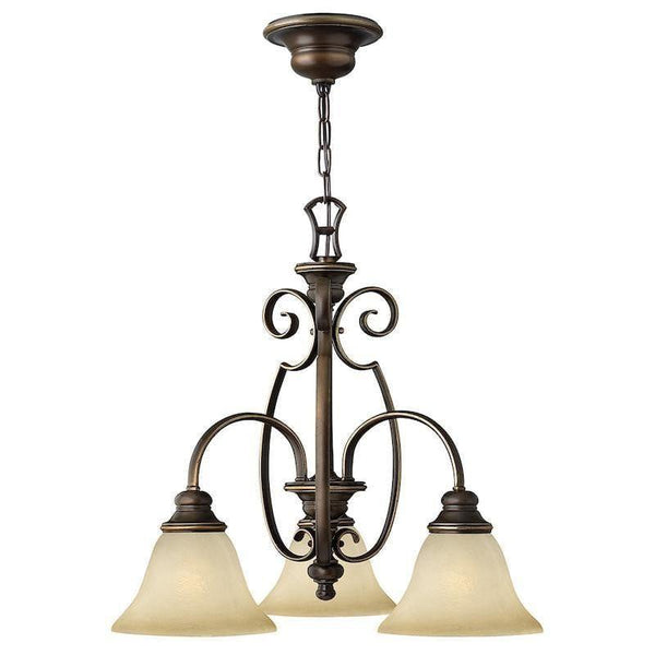 Art Deco Ceiling Lights - Hinkley Cello Antique Bronze Finish 3 Light Chandelier HK/CELLO3