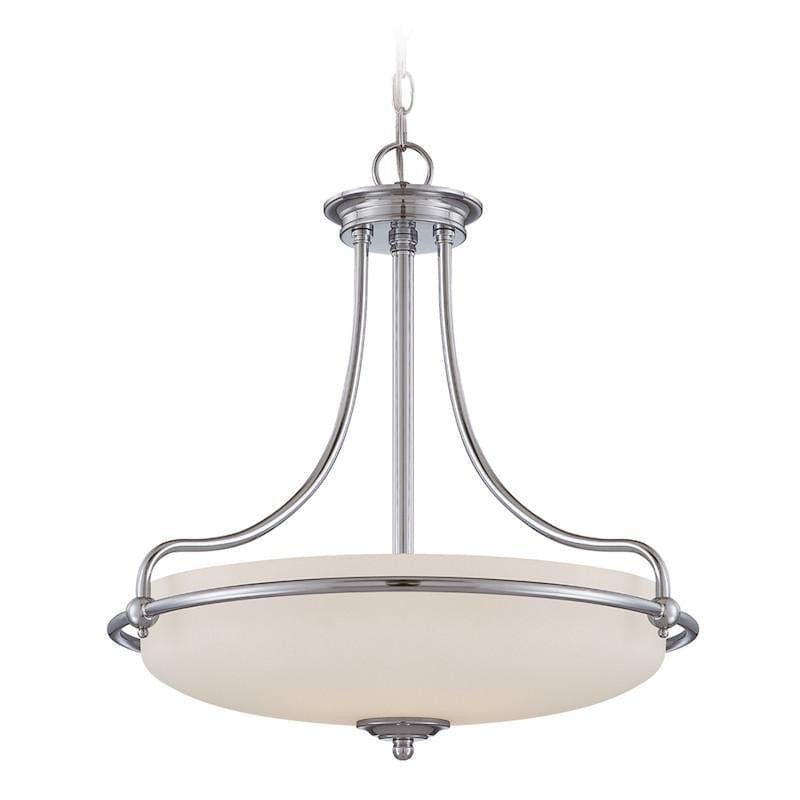 Art Deco Ceiling Lights - Quoizel Griffin Polished Chrome Finish 4 Light Pendant Ceiling Light QZ/GRIFFIN/P C