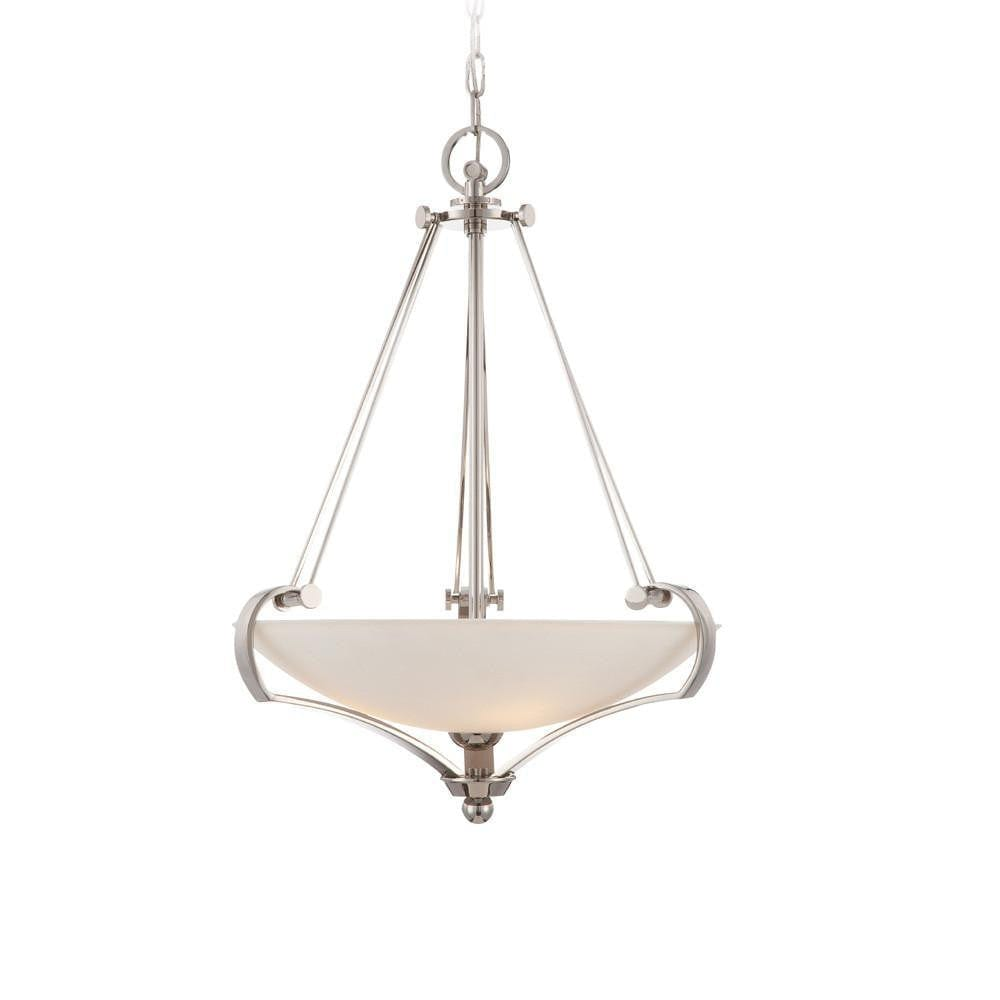 Art Deco Ceiling Lights - Quoizel Sutton Place Imperial Silver Finish And Optic Glass Pendant Ceiling Light QZ/SUTTON PL/P