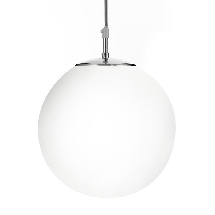 Searchlight Atom Satin Silver Finish And Opal Glass Pendant Ceiling Light 6077