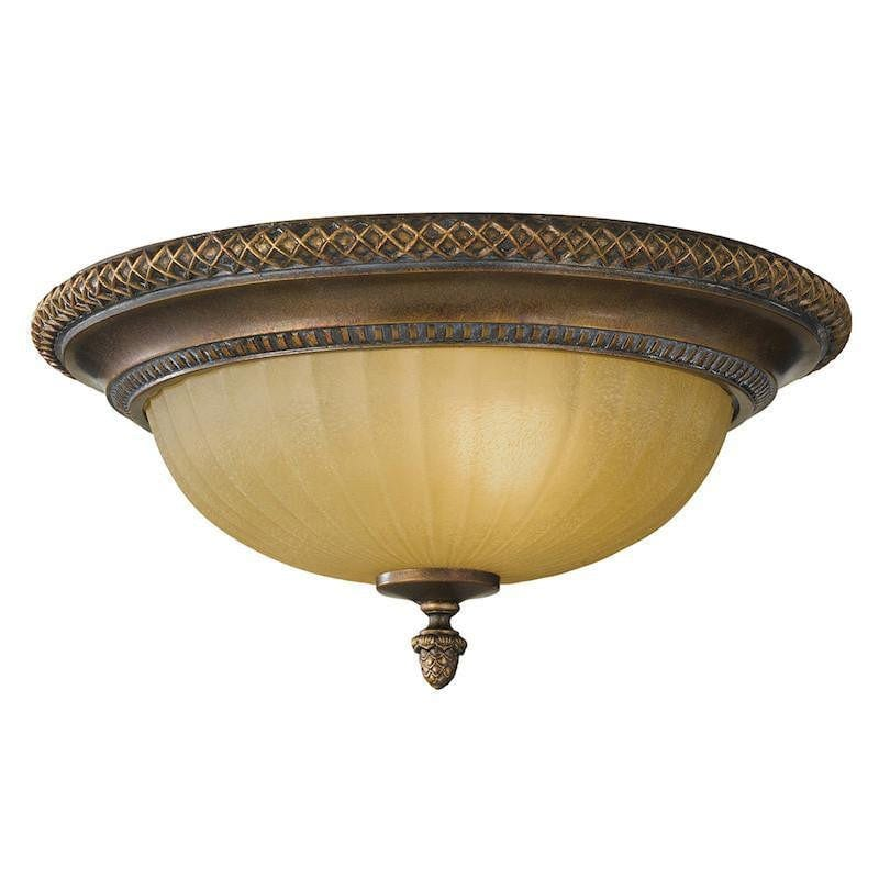 Art Deco Flush & Semi Flush - Feiss Kelham Hall Firenze Gold And British Bronze Finish Flush Ceiling Light FE/KELHAM HALL/F