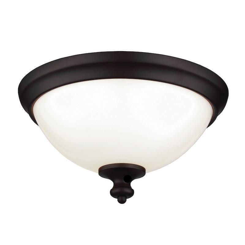 Art Deco Flush & Semi Flush - Feiss Parkman Oil Rubbed Bronze Finish Flush Ceiling Light FE/PARKMAN/F OB