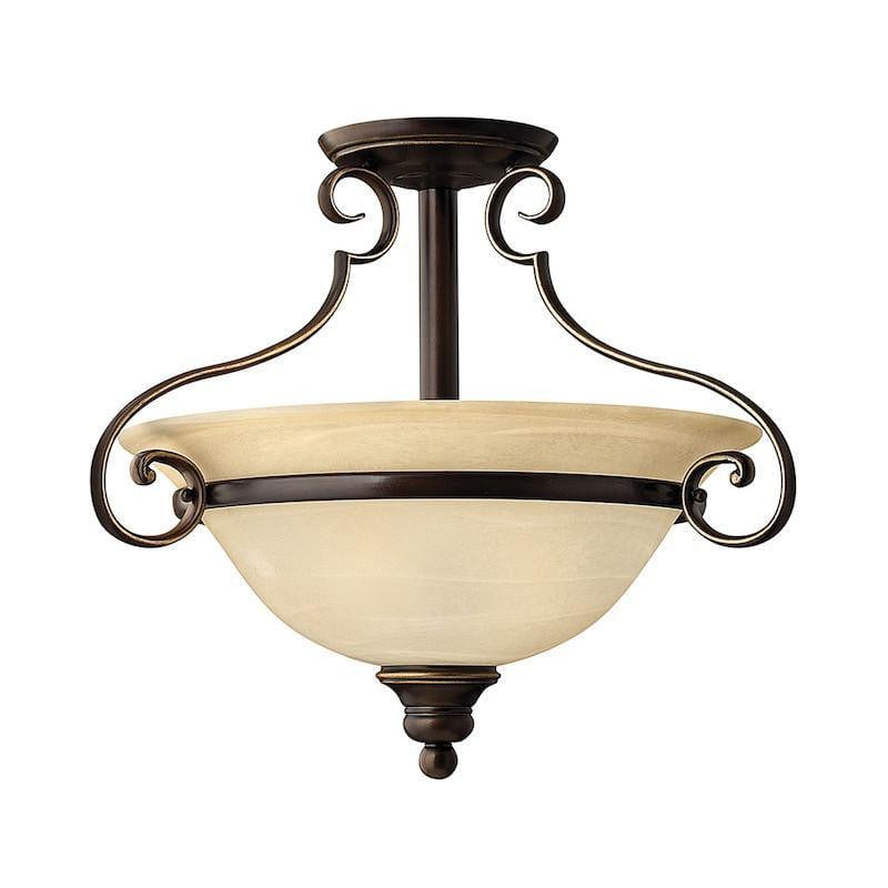 Art Deco Flush & Semi Flush - Hinkley Cello Antique Bronze Finish Semi Flush Ceiling Light HK/CELLO/SF