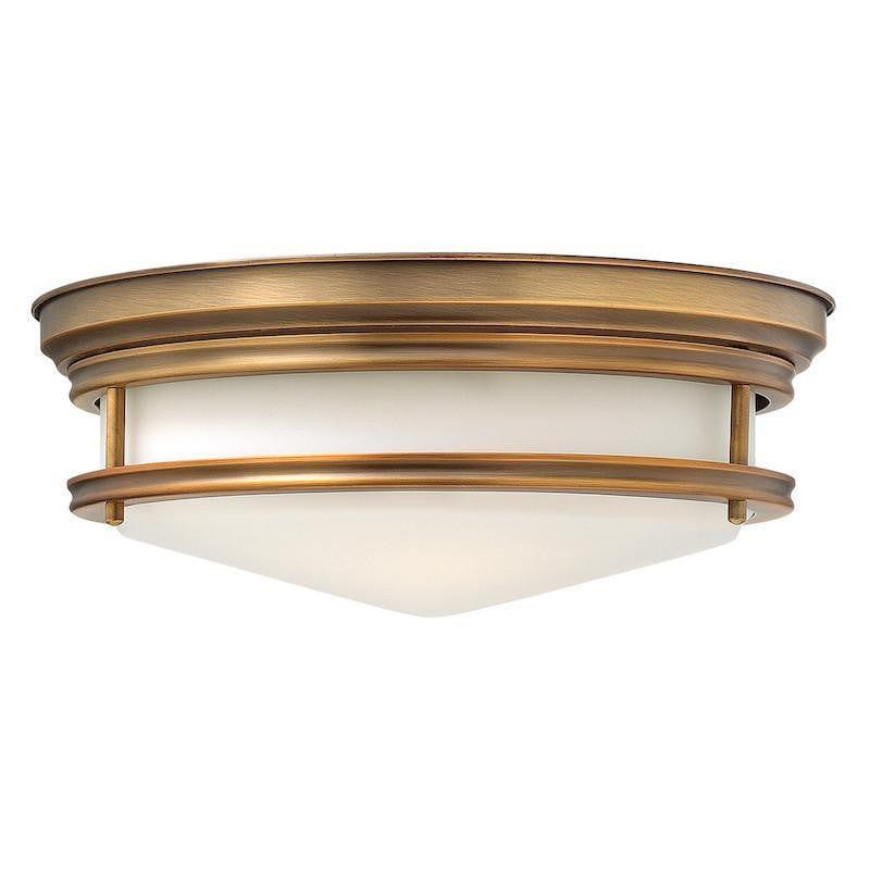 Art Deco Flush & Semi Flush - Hinkley Hadley Brushed Bronze Finish 3 Light Flush Ceiling Light HK/HADLEY/F BR