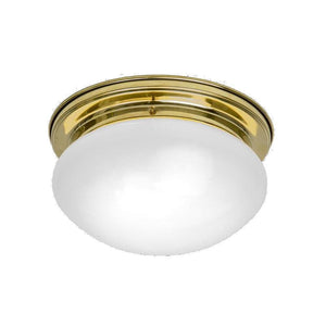 Art Deco Flush & Semi Flush - Kansa Art Deco Bowl Flush Ceiling Light BOWL6398