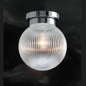 Art Deco Flush & Semi Flush - Kansa Prismatic Globes Flush Ceiling Light PRISM428