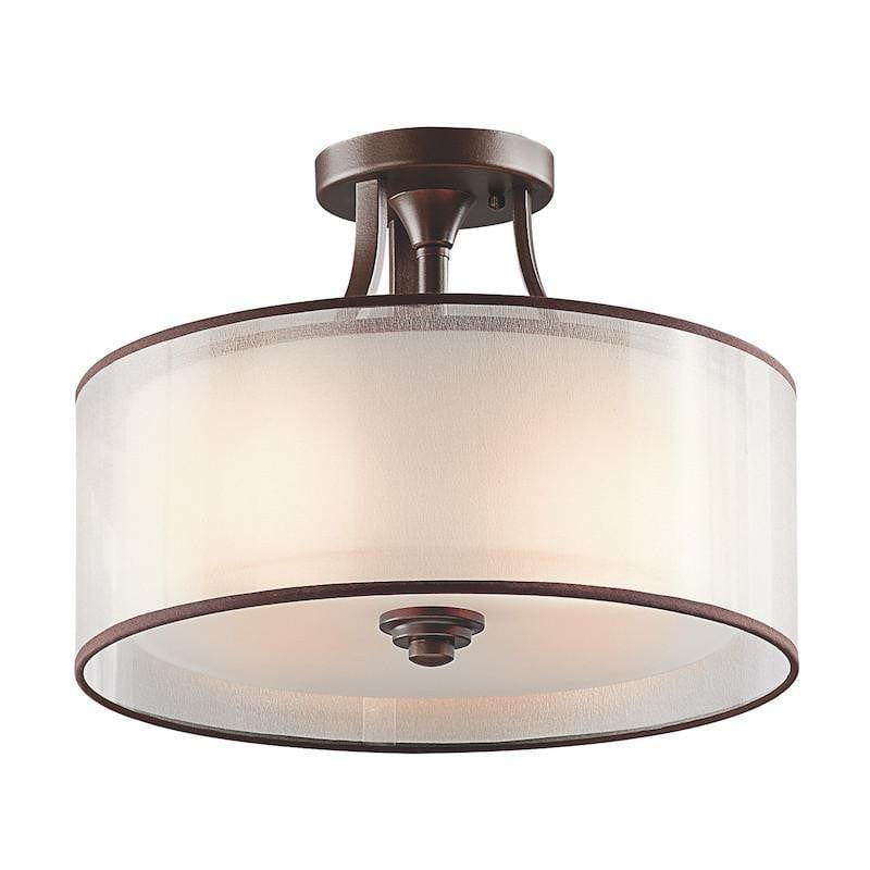 Kichler lacey mission bronze finish small semi flush ceiling light kl art deco flush semi flush kichler lacey mission bronze finish small semi flush ceiling aloadofball Choice Image