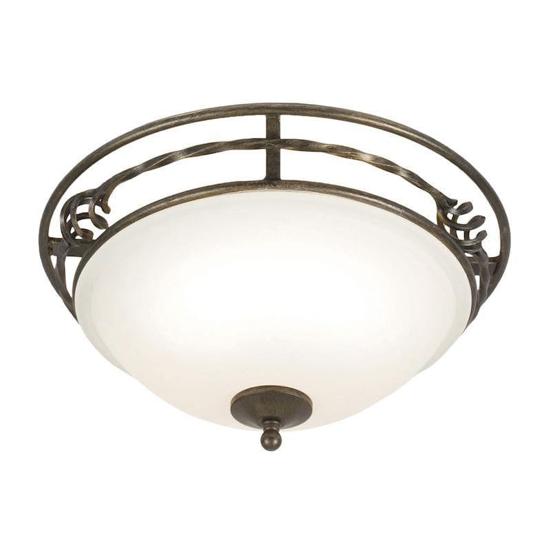 Art Deco Flush & Semi Flush - Pembroke Black And Gold Finish Flush Ceiling Light PB/F/A BLK/GLD