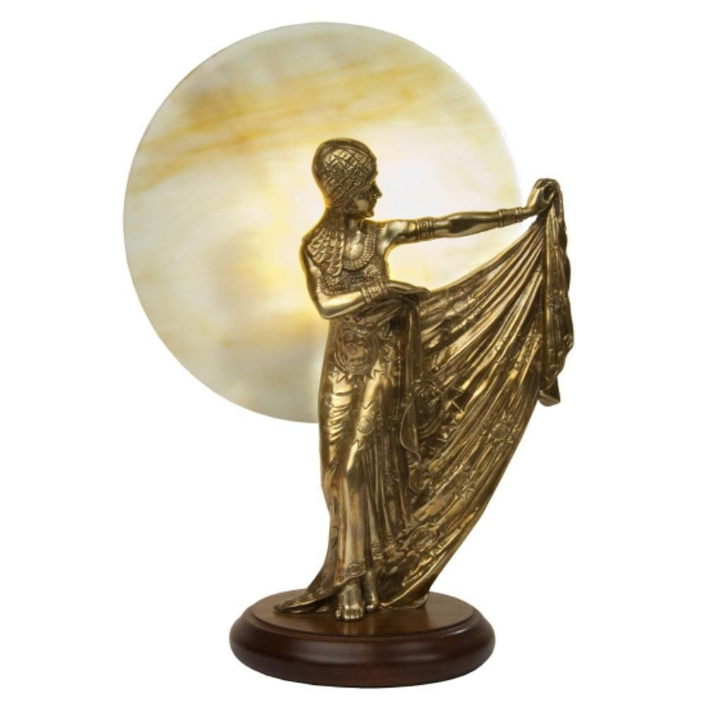 Art Deco Statue - Kansa Sun Brass Art Deco Fan Light SUN93