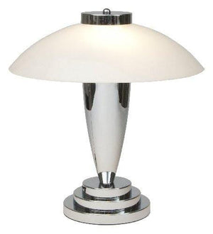 Art Deco Table Lamp - Kansa Charlton White Art Deco Table Lamp CHARLTON98