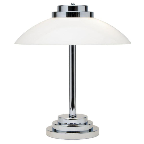 Chrome & Nickel Table Lamps