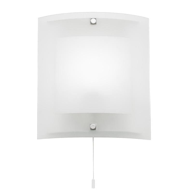 Art Deco Wall Light - Blake Clear And Frosted Glass And Chrome Finish Wall Light 143-WB
