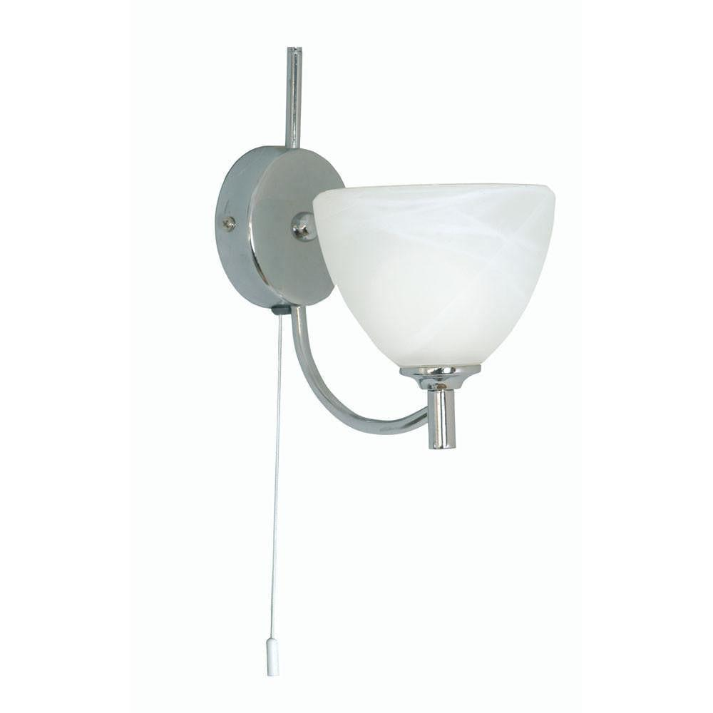 Art Deco Wall Light - Hamburg Chrome Finish Art Deco Wall Light 1178/1 CH