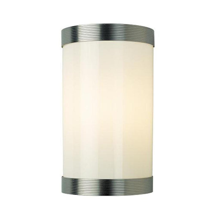 Kansa Reeded Glass Matt Nickel Wall Light REED864