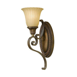 Art Deco Wall Lights - Feiss Kelham Hall Firenze Gold And British Bronze Finish Wall Light FE/KELHAM HALL1