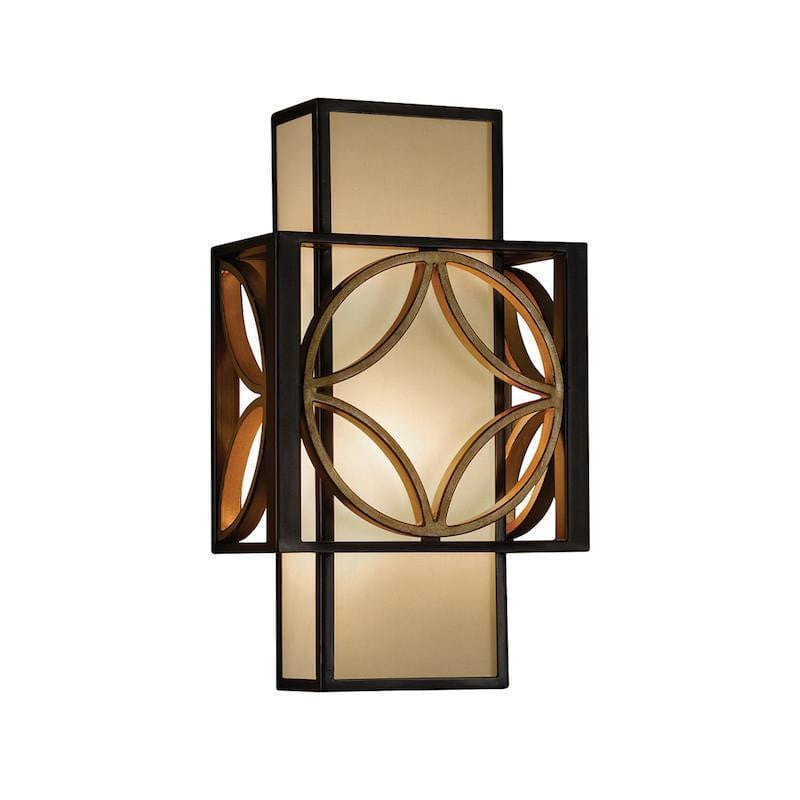Art Deco Wall Lights - Feiss Remy Heritage Bronze And Parisienne Gold Finish Wall Light FE/REMY1