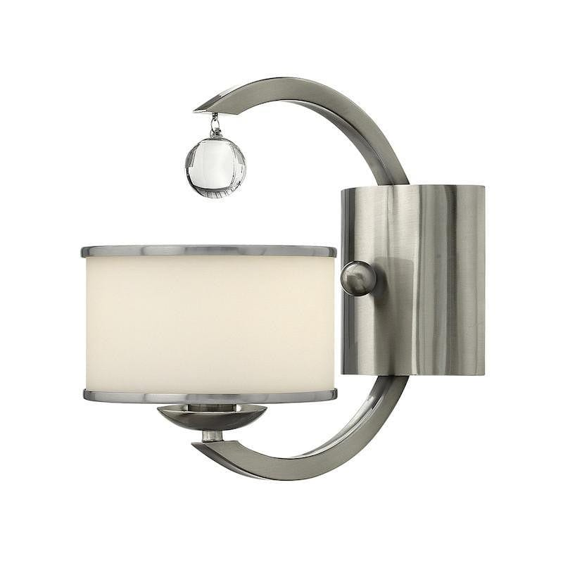 Art Deco Wall Lights - Hinkley Monaco Brushed Nickel Finish Single Arm Wall Light HK/MONACO1