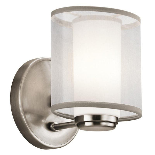 Art Deco Wall Lights - Kichler Saldana Classic Pewter Finish Wall Light KL/SALDANA1