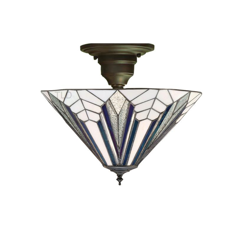 Astoria Tiffany Semi-Flush Ceiling Light