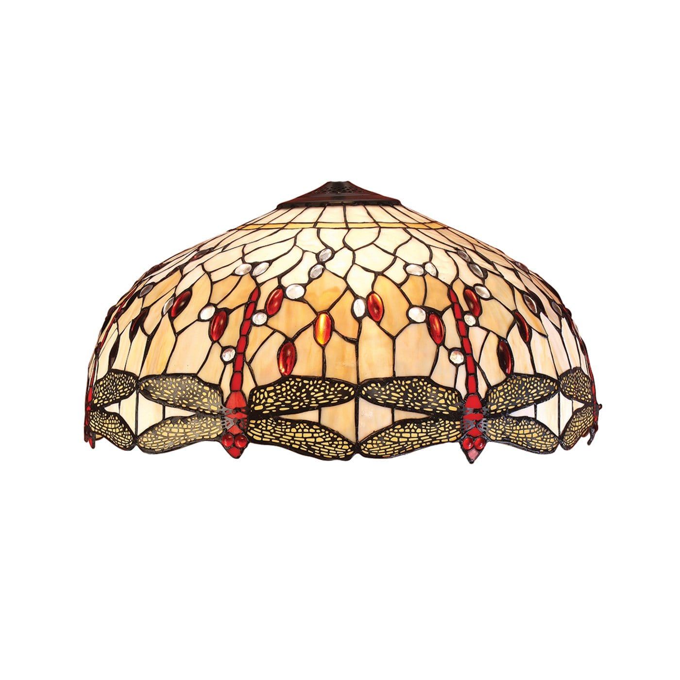 Beige Dragonfly Large Tiffany Shade by Interiors 1900