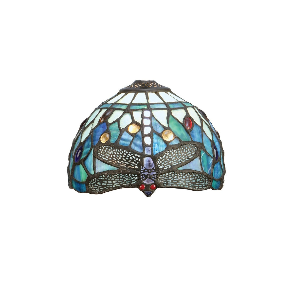 Blue Dragonfly 20cm Tiffany Shade by Interiors 1900