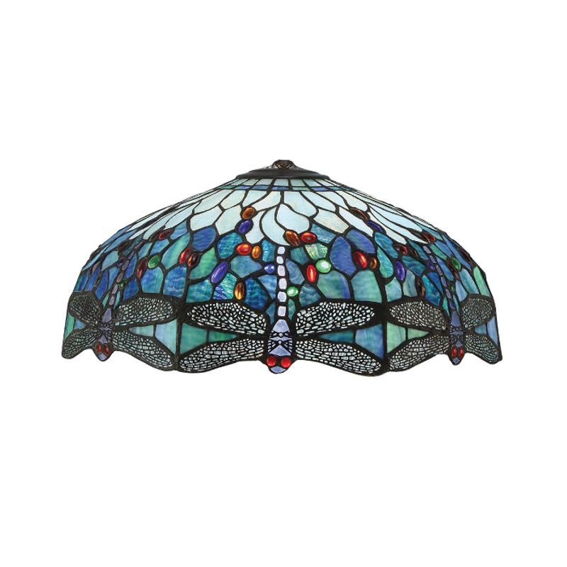 Blue Dragonfly Large Tiffany Shade by Interiors 1900